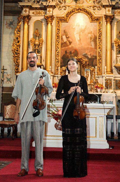 Konzert mit Schülerin in Litauen, Sakiai, 2009