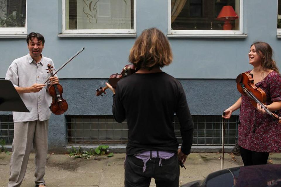 Interdisziplinäres Projekt mit der Post-Gallerie in Litauen, Kaunas, 2013